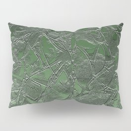 Grunge Relief Floral Abstract G167 Pillow Sham