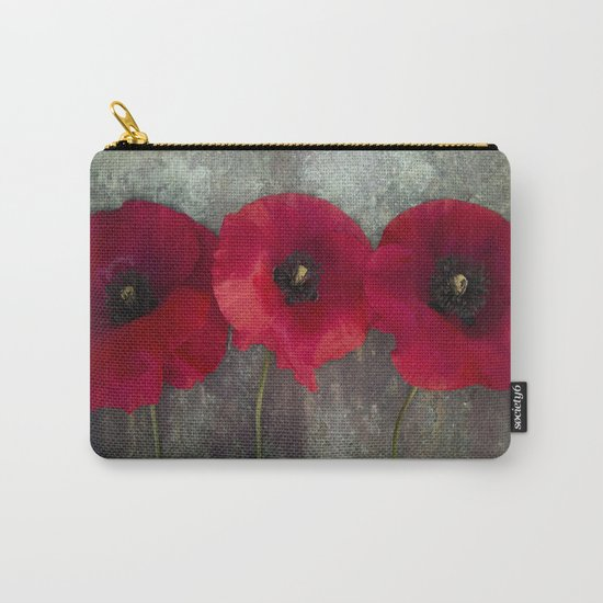 Three red poppies Carry-All Pouch