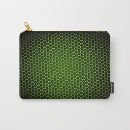 Honeycomb Background Green Carry-All Pouch