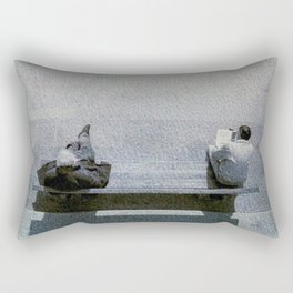 Piazza bank in London Rectangular Pillow