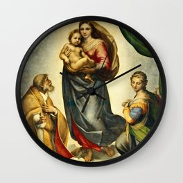 Raphael - The Sistine Madonna Wall Clock