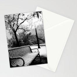 Park Bench (Black & White) Stationery Cards