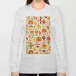 Succulent Cutout Print Long Sleeve T-shirt