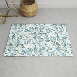 Painted Watercolor Leaves Rug