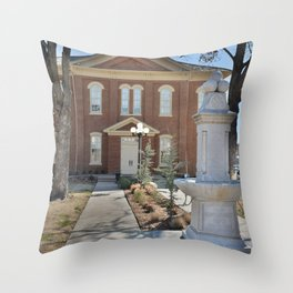 Cherokee Nation - Capitol in Tahlequah, No. 2 of 3 Throw Pillow
