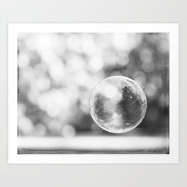 Black and White Bubble Photography, Grey Laundry Art, Gray Bathroom Decor,Bubbles Laundry Room Photo Art Print