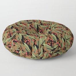 Flowering Gum - Black Floor Pillow