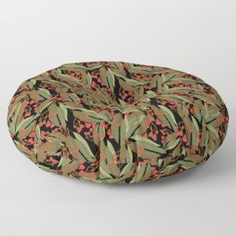 Flowering Gum - Black Floor Pillow