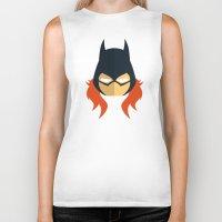 batgirl Biker Tanks featuring Batgirl by Oblivion Creative