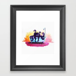 Scuba in the Tub Framed Art Print