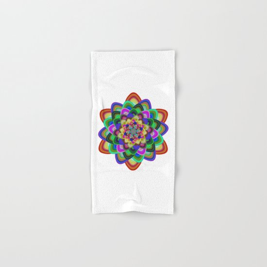 Hexagonal flower Hand & Bath Towel