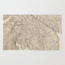 Vintage Map of Scotland (1855) Rug