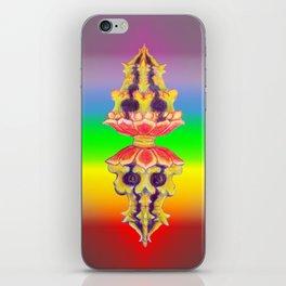 Lotus Skull Rainbow Desaturated Diamond Doilie iPhone Skin