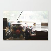 office Canvas Prints featuring Office by Shelby Pollard