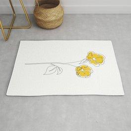 Mustard Bloom Rug