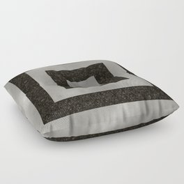 Silver Squares Floor Pillow