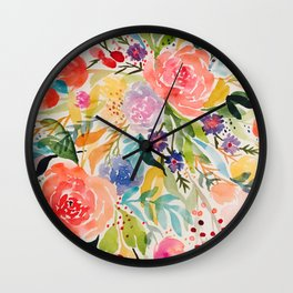 Flower Joy Wall Clock