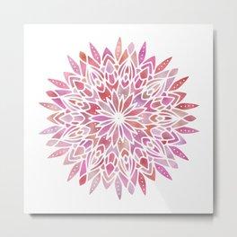 Mandala Pink Gold Metal Print