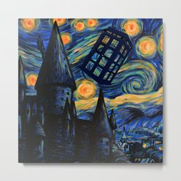 Tardis The Starry Night Metal Print