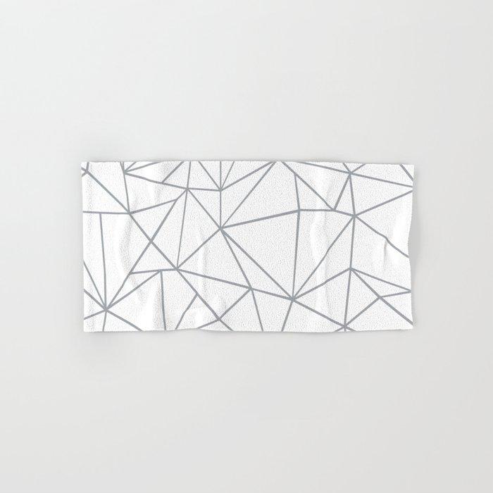 Ab Outline 2 Grey on White Hand & Bath Towel