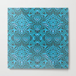 A Pattern in Turquoise Metal Print