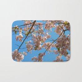 Cherry Blossoms and Blue Sky at Kew Gardens 2019 Bath Mat