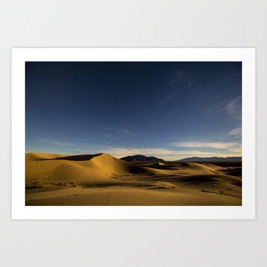 Sand Dunes & Night Sky Art Print