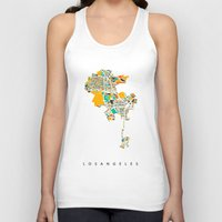 los angeles Tank Tops featuring Los Angeles by Nicksman
