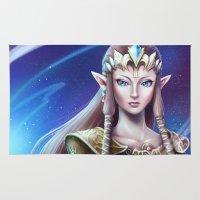 zelda Area & Throw Rugs featuring Zelda by Emeraldus