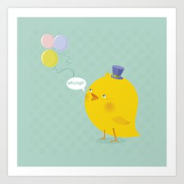 Welcome Baby Boy! Art Print