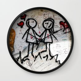 Graffiti love Wall Clock