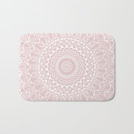 Light Rose Gold Mandala Minimal Minimalistic Bath Mat