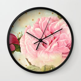 Vintage Flower #7 Wall Clock