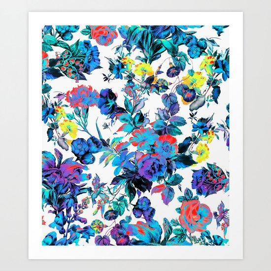 FRACTAL FLORA Art Print