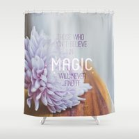 roald dahl Shower Curtains featuring magic..  by studiomarshallarts