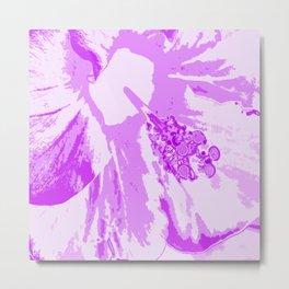 Intimate Purple Metal Print