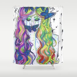 Crying Color Shower Curtain