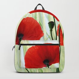 Poppies red 008 Backpack