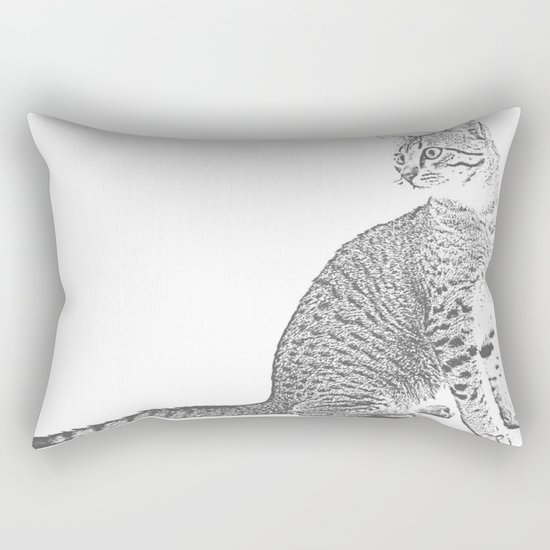 Cat Sketch Rectangular Pillow