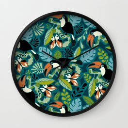 Toucan Tropics Wall Clock