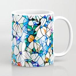 Glass stain mosaic 7 - flower, by Brian Vegas Coffee Mug