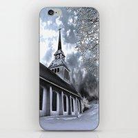 finland iPhone & iPod Skins featuring Church in Kuusamo, Finland by Guna Andersone & Mario Raats - G&M Studi