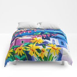 Santorini churches Comforters