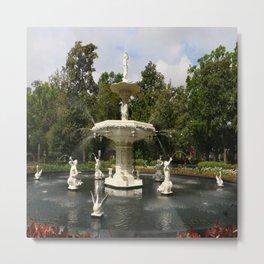 Forsyth Fountain in Forsyth Park Metal Print