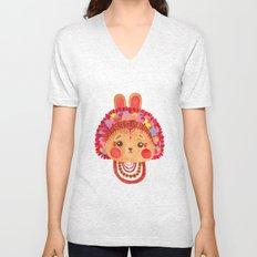 The Flower Crown Bunny Unisex V-Neck