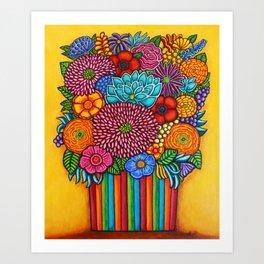 Celebration Bouquet Art Print