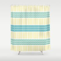 knit Shower Curtains featuring Knit Pattern by K&C Design