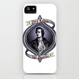 Das Leben ist Goethe iPhone Case