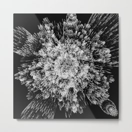 Spiky black and white Metal Print