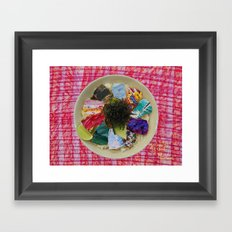 Quality food. No Coincidence.   Framed Art Print